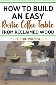 guide to diy rustic coffee table with