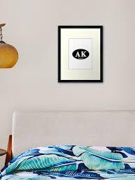 Alaska Decal Framed Art Print By Kayleencarson Redbubble