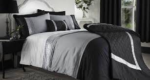 21 dream black and silver bed set photo