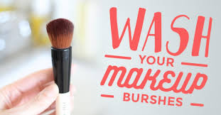 psa wash your makeup brushes