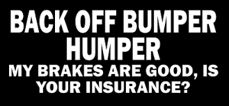 Back Off Bumper Humper Decal Jdm Funny Decal For Car Windows Outdoors Etc Ebay