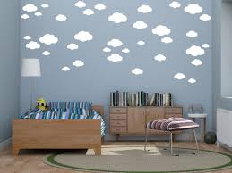 37 Mixed Size White Clouds Wall Art Stickers Decals Medium Size Clouds Ramutes On Artfire