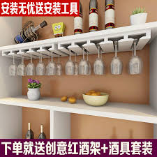 red wine glass rack upside hanging wine