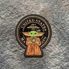 Usmc Yoda Vinyl Decal