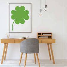 Lucky Four Leaf Clover Silhouette Vinyl Decor Wall Decal Customvinyldecor Com
