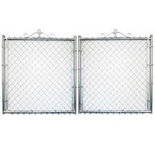 4 Ft H X 12 Ft W Galvanized Steel Chain Link Fence Gate In The Chain Link Fence Gates Department At Lowes Com