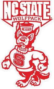 Amazon Com 5 Inch Mr Wuf North Carolina Nc State University Wolfpack Ncsu Wolf Pack Logo Removable Wall Decal Sticker Art Ncaa Home Room Decor 3 By 5 Inches Baby