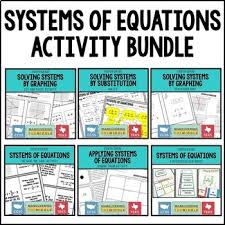 systems of equations activity bundle by