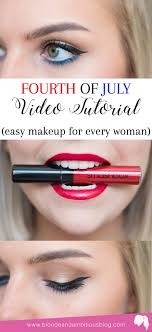 fourth of july makeup video tutorial
