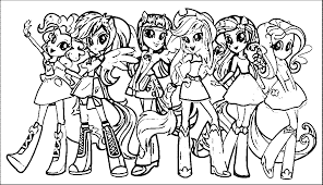 my little pony human coloring pages
