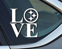 Pittsburgh Steelers Love Vinyl Decal Sticker Car Truck Laptop Pirates Penguins Roethlisberger Football Krafty Block Steelers Pittsburgh Steelers Funkin Carving