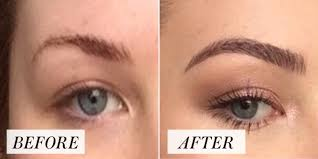 woman s overplucked brow transformation