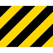 9in X 7in Yellow And Black Warning Vinyl Sticker Sheet Caution Decal Walmart Com Walmart Com
