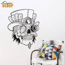 Western Home Decoration Sugar Skull Wall Stickers Living Room Removable Creative Wall Decals Sticker Western Home Decor Olivia Decor Decor For Your Home And Office