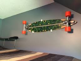 longboard skateboard wall mount by