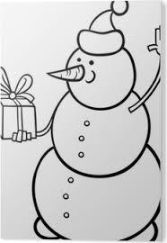 Canvas Kerst Sneeuwpop Kleurplaat Pixers We Leven Om Te