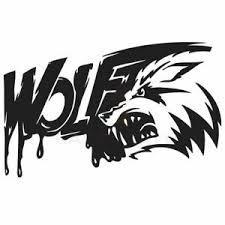 Bloody Angry Wolf Teeth Car Truck Boat Rv Decal Window Sticker Window Decal Ebay