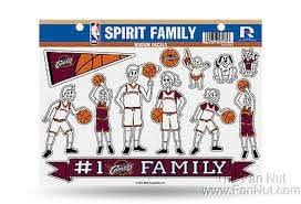 Cleveland Cavaliers Family Spirit Window Stickers Decal Sheet Basketball 94746568818 Ebay