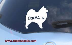 Samoyed Silhouette Vinyl Sticker Car Decal Personalized Blakdogs Vinyl Designs