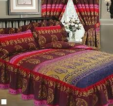 double bed kashmir fuschia luxury