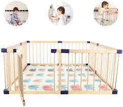 Children S Play Fence Children S Activity Safety Center Indoor And Outdoor Free Creative Diy Solid Wood Safety Fence Baby Crawling Toddler Fence 200 180cm Amazon Ca Home Kitchen