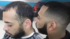 skin fade haircut with bigen dye by