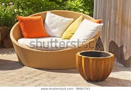 modern wicker garden sofa love seat