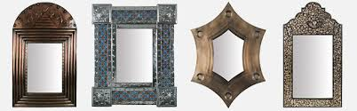 punched tin and handpainted mirror frames