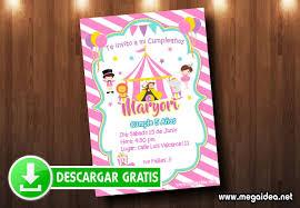 Invitacion Circo Nina Para Imprimir Gratis Mega Idea