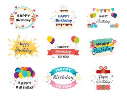 Coleccion De Pancartas De Feliz Cumpleanos Descargar Vectores