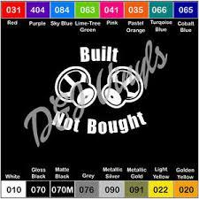 Built Not Bought Vinyl Decal Sticker Speakers Subwoofer Basshead Life Subs Bass Ebay