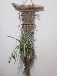 jute macrame wall hanging pot hanger