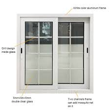 white color aluminum frame double glass