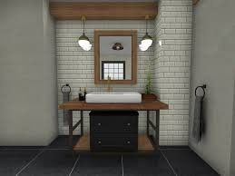 how to style an industrial bathroom
