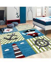 Children S Carpet Kids Room Carpet With Designs Pirate Ship Kids 0450 Multi Size 80x150 Cm