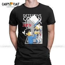 Creative Conan Vs Kid T Shirts Men T Shirts Detective Conan Edogawa Japan  Anime Short Sleeve Tee Shirt Plus Size Clothing|T-Shirts