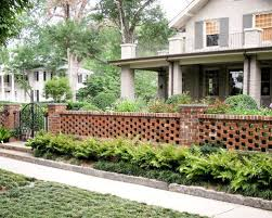 Pierced Brick Wall Landscape Ideas Designs Remodels Photos Brick Wall Gardens Fence Design Front Yard Fence