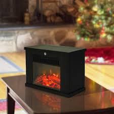 black mini led electric fireplace