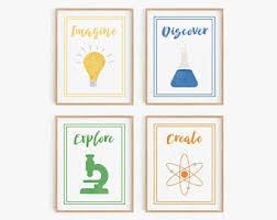 Kids Science Bedroom Etsy