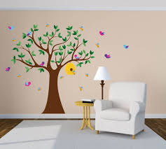 Wall Decals Tree Decal Vinyl Tree Decal Beehive Decal Etsy