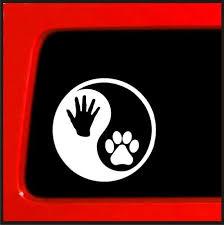 Dog Paw Yin Yang Human Hand Print Vinyl Buy Online In Bahamas At Desertcart