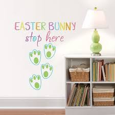 Dwpq2407 Easter Bunny Stop Here Wall Quote By Wallpops