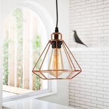 polygon wire pendant light