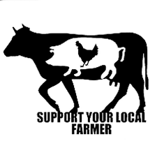 15cm 11 5cm Your Local Farmer Decal Sticker Car Window Cow Pig Chicken Cute Car Stikers Black Sliver C8 0176 Wish