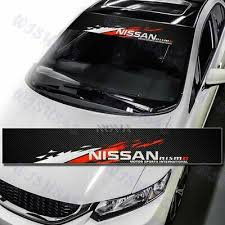 Windshield Carbon Fiber Vinyl Banner For Nismo Nissan Front Window Decal Sticker Ebay