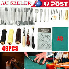 49pcs leather craft punch tools