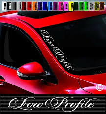 20 Low Profile Side Windshield Car Decal Sticker Jdm Lowered Stance Lowrider Wish