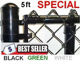 5 Ft Black Green Coated Fence Kit Includes 2 X 9 Ga Mesh 1 3 8 Top Rail 1 5 8 X 7ft Line Posts 10ft Spacing And Hardware Enter Total Linear Feet In Q