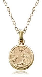 guardian angel pendant necklace