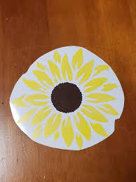 Sunflower Vinyl Decal Sticker Sunflower Vinyl Decal Etsy